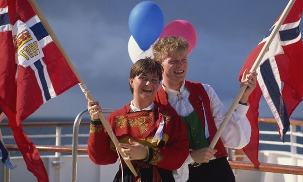 Norwegians celebrate National Day on May 17th Norway Scandinavia Europe PUBLICATIONxINxGERxSUIxAU