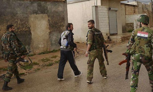 Regimetreue Soldaten in Syrien