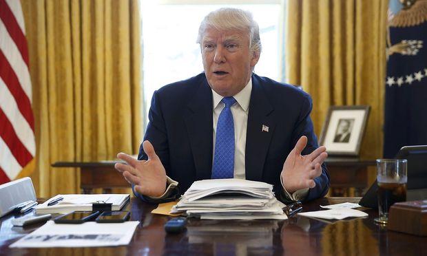 Donald Trump in seinem Büro.