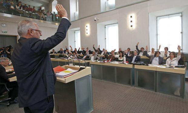Abstimmung im Kärntner Landtag.