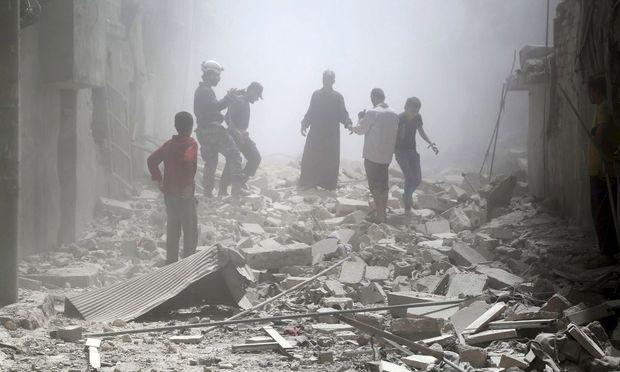 Aleppo, ein Schutthaufen.
