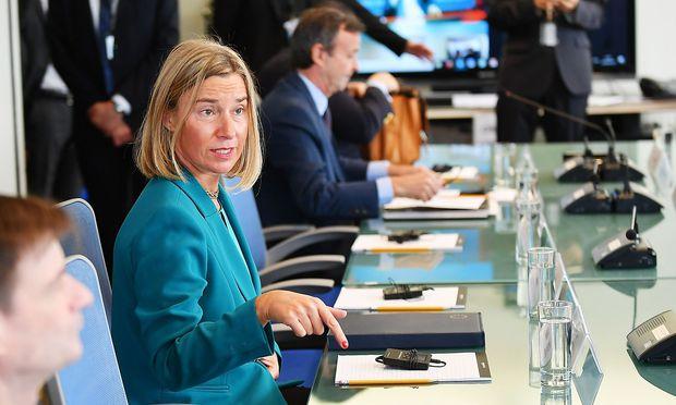 EU-Außenbeauftragte Mogherini will den Iran-Deal retten. / Bild: APA/AFP/MANDEL NGAN