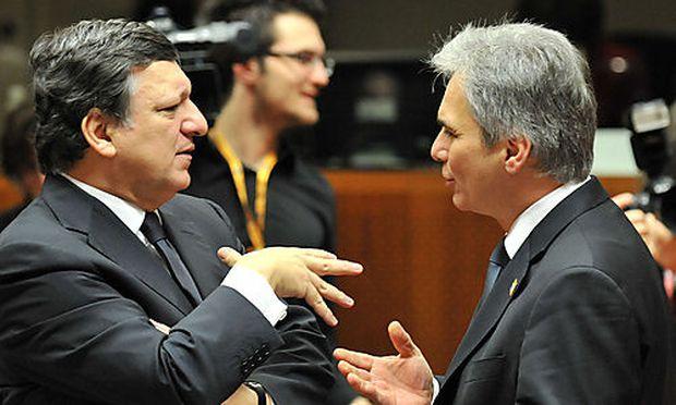 EU GIPFEL IN BR�SSEL:  FAYMANN / BARROSO