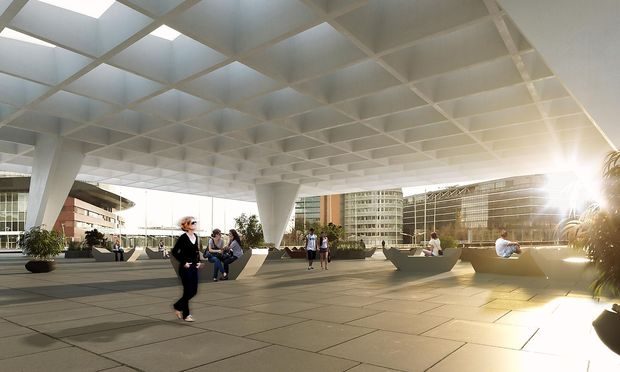 Visualisierung Donausegel Austria Center Vienna.
