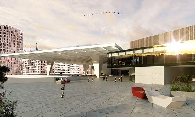 Dachkonstruktion Austria Center Vienna