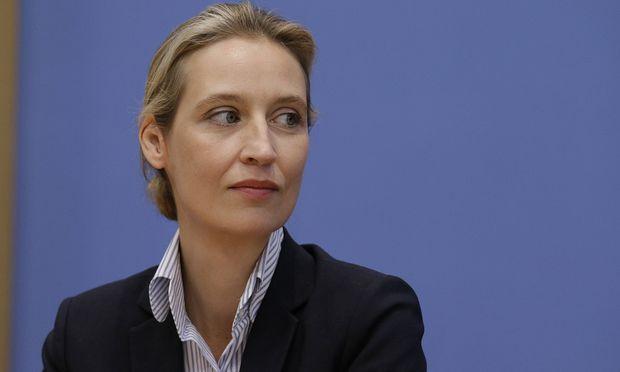 Alice Weidel Spitzenkandidatin der AfD Deutschland Berlin Bundespressekonferenz Thema Auswirku