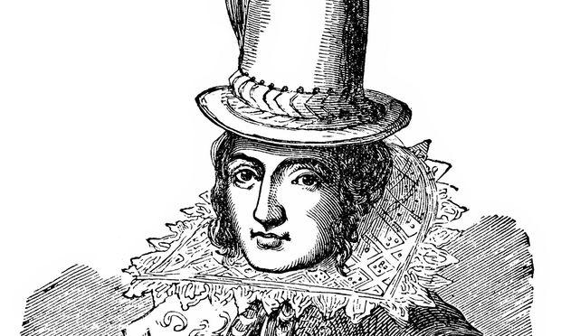 Porträt von Pocahontas in England