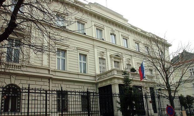 Archivbild: Die russische Botschaft in Wien