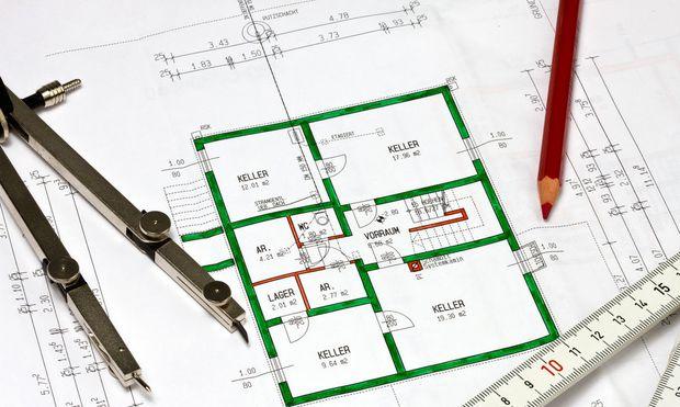 Plan für ein neuen Wohnhauses