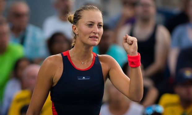 August 30 2018 Kristina Mladenovic of France in action during her second round match at the 2018