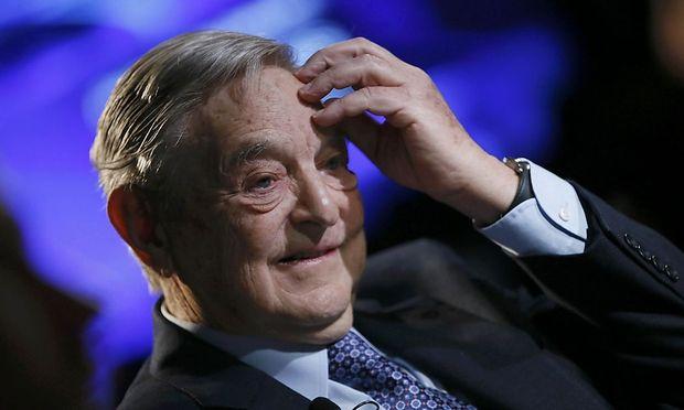 Billionaire investor Soros attends WEF in Davos