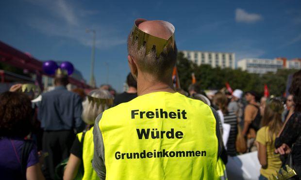 Proteste für das bedingungslosen Grundeinkommen / Bild: (c) imago stock&people