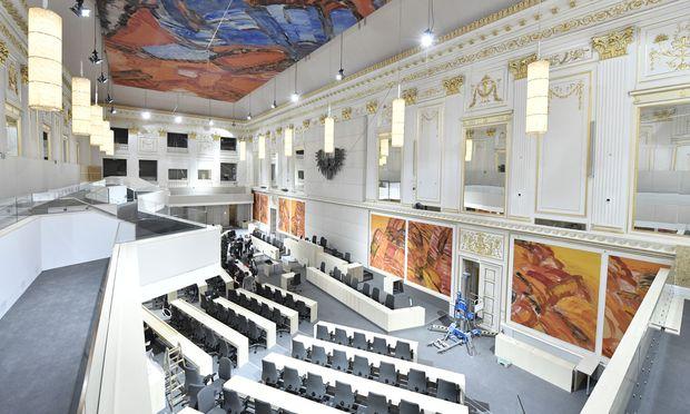 Sitzungssaals des Nationalrats in der Hofburg in Wien