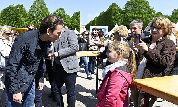 Sebastian Kurz am Familienfest