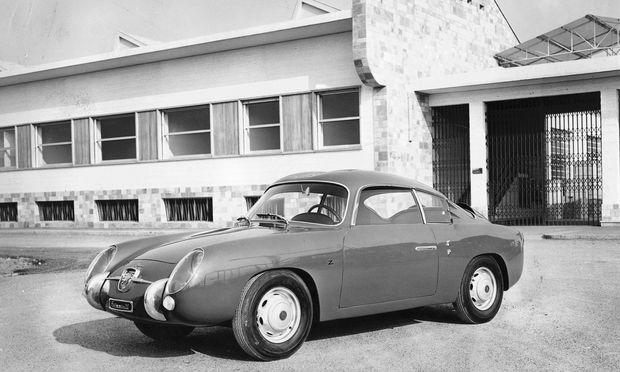 Stiltreu. Formensprache mit kompakten Mitteln: Fiat Abarth 750 Zagato Coupé, 1958.