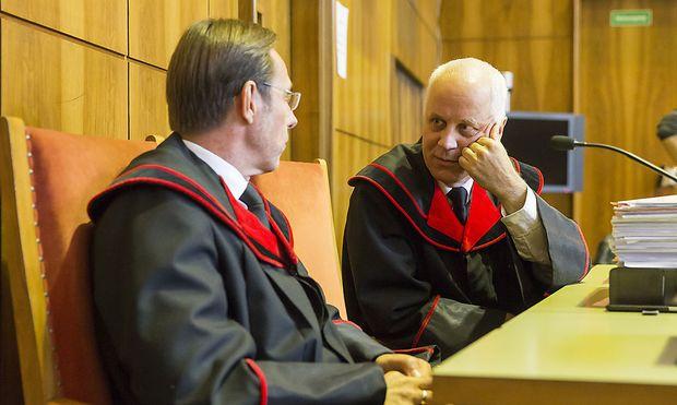 Die Staatsanwälte Hansjörg Bacher (links) und Rudolf Fauler