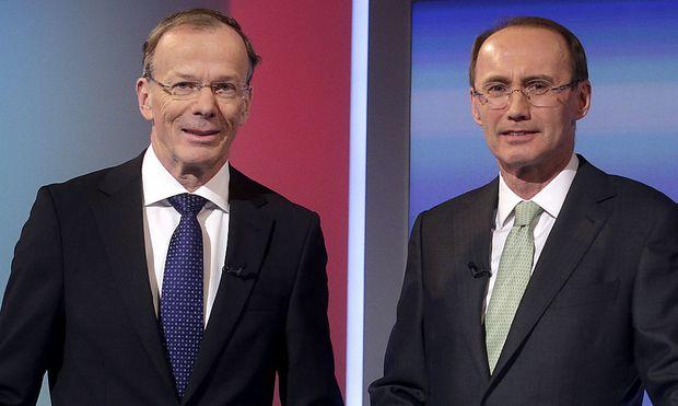 Eugen Freund (SPÖ) und Othmar Karas (ÖVP)