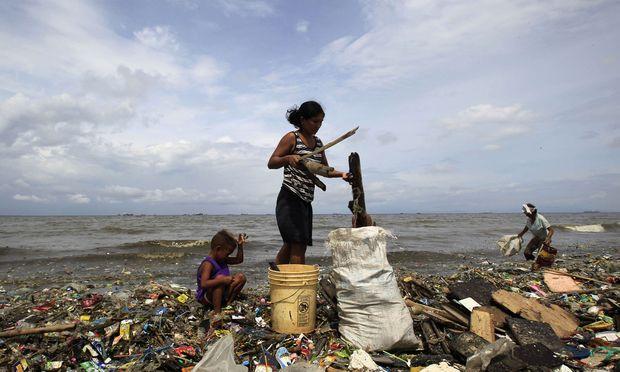 Bis zu 8O Prozent des Plastikmülls im Meer stammen aus Asien. Hier eine Aufnahme von den Philippinen nahe Manila.