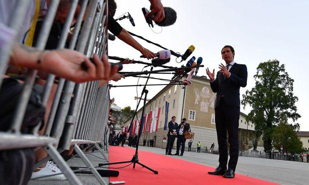 Bundeskanzler Sebastian Kurz, ÖVP / Bild: APA/AFP/JOE KLAMAR