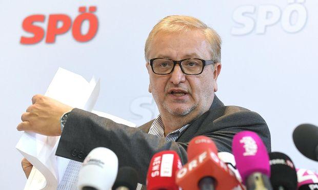 Bundesgeschäftsführer Christoph Matznetter trat am Donnerstag vor die Medien