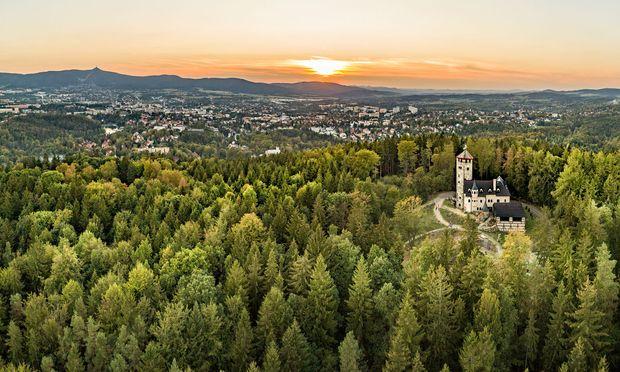 Liberec, das einstige Reichenberg, in Nordböhmen.