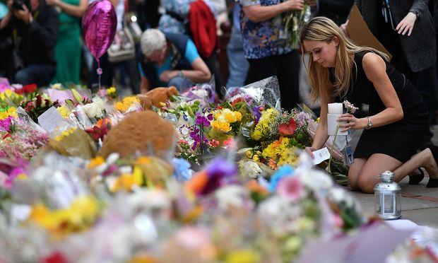 Trauerbekundungen in Manchester. / Bild: APA/AFP/BEN STANSALL