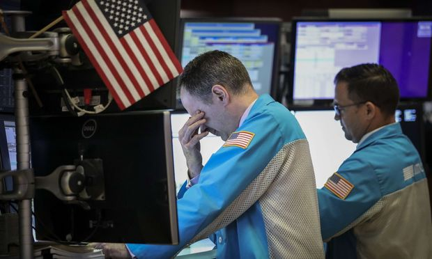 An den Börsen, wie hier an der Wall Street, gab es schon mehr zu lachen.