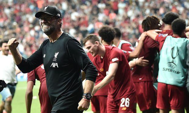 Jürgen Klopp darf mit den Reds über den Supercup-Sieg jubeln.
