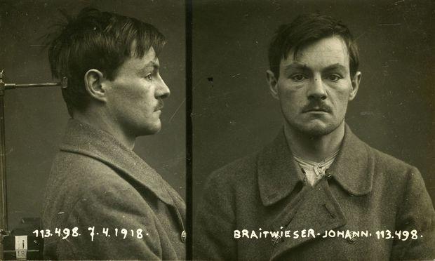 """Johann Breitwieser (auch """"Braitwieser""""), genannt der """"Robin Hood von Wien"""", fast auf den Tag genau ein Jahr vor seinem Tod."""