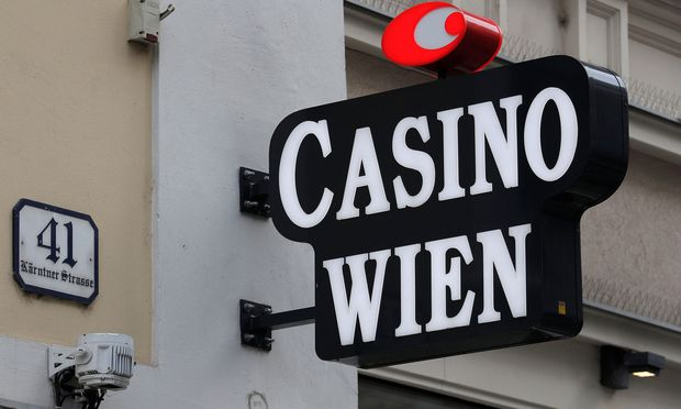 The logo of Casino Wien is seen outside its building in the centre of Vienna
