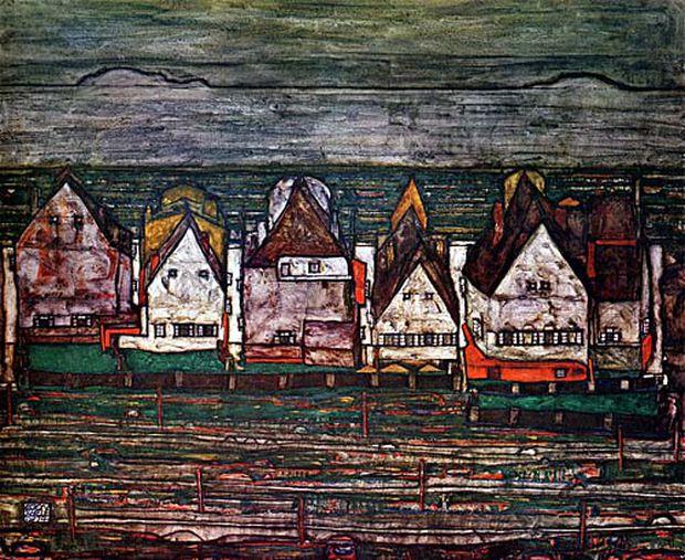 Egon Schieles ''Häuser am Meer''