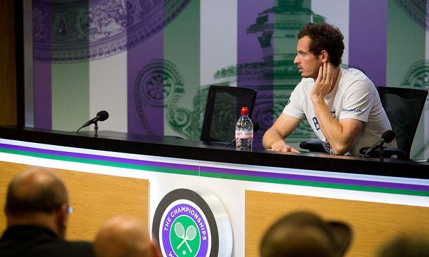 Andy Murray bei der Pressekonferenz