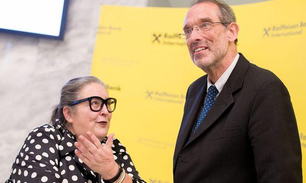 Zwei neue Gesichter: Rektorenchefin Eva Blimlinger, Minister Heinz Faßmann.