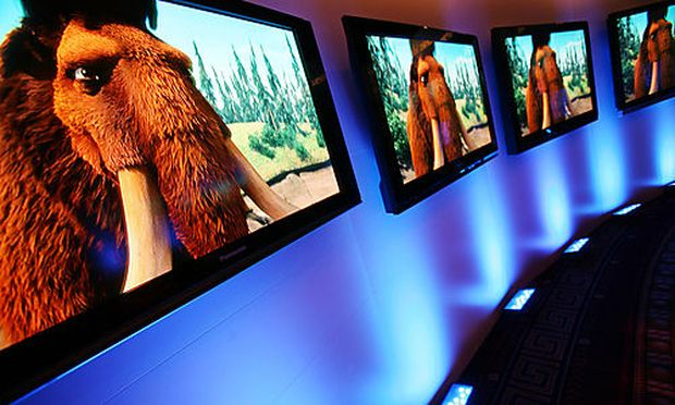 Panasonic Plasma HDTVs are shown at a press preview, Thursday, March 29, 2007, in New York. Panasonis are shown at a press preview, Thursday, March 29, 2007, in New York. Panasoni