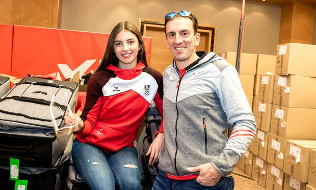 Hannah und Markus Prock, Tochter und Vater – und beide sind bei den Spielen.