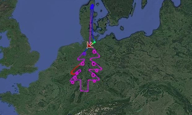 Airbus zieht Tannenbaum über Deutschland