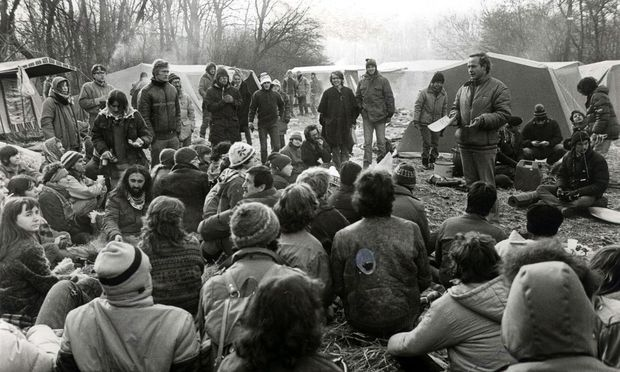 Aubesetzung 1984 – Strafrechtler befürchten Kriminalisierung solcher Aktionen.