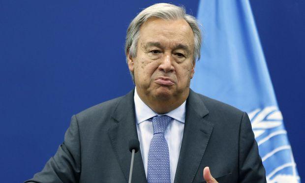 UNO-Generalsekretär Antonio Guterres / Bild:  AFP (ABBAS MOMANI)