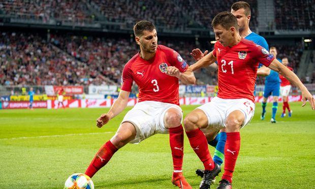 Dragovi´c und Lainer waren sich zwar uneins, wer den Ball bekommt. Der Slowene hatte allerdings das Nachsehen, und nur das zählt.