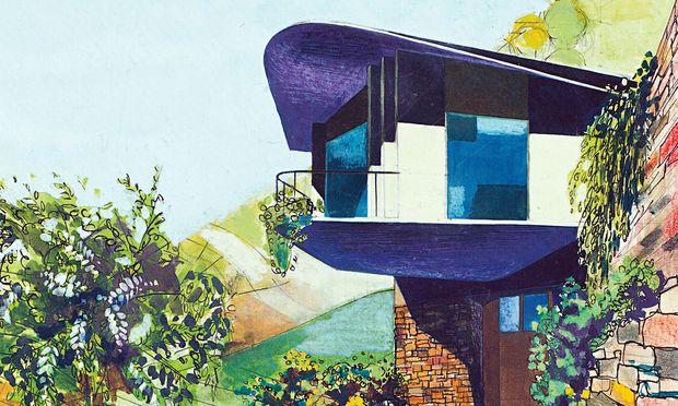 Architektur. Wie gemalt: eine Studie für die Villa  Lora Totino.