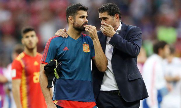 Diego Costa und Fernando Hierro