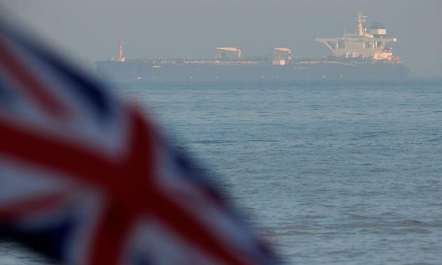 """Die """"Grace 1"""" liegt seit Wochen vor Gibraltar vor Anker."""
