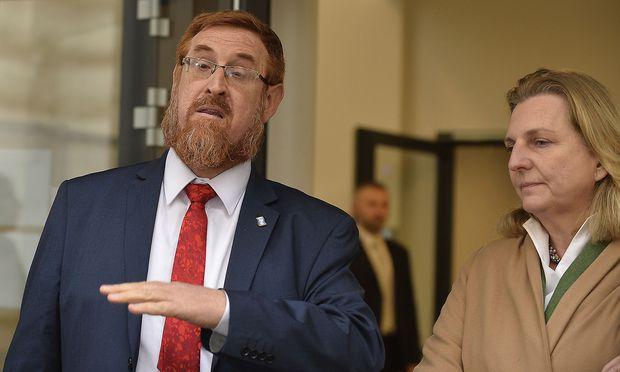 Yehuda Glick bei Außenministerin Kneissl