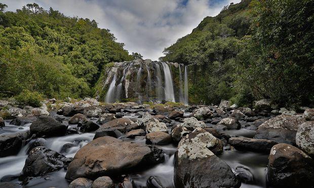 Paradiesisches Idyll La Réunion: Auf der Insel rauschen Hunderte Wasserfälle in tiefe Schluchten, gedeiht die beste Vanille der Welt und und auch sonst alles, was bunt und frisch auf den Markt in Saint-Paul kommt.