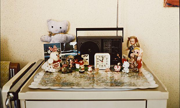 Fotografie Kinderspielzeug Totenbett