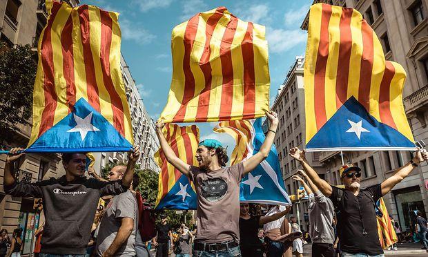 Die Macht ist stark bei den katalanischen Sezessionisten...