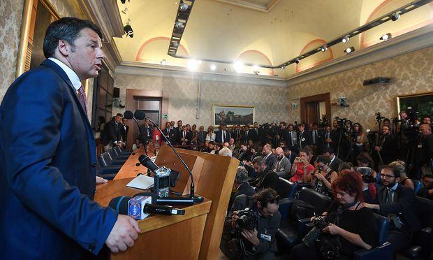 Ex-Premierminister Matteo Renzi brachte die mögliche Koalition mit den Fünf Sternen als einer der ersten ins Spiel.