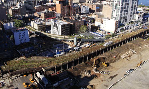 Die ''High Line'' im Westen von Manhatten.