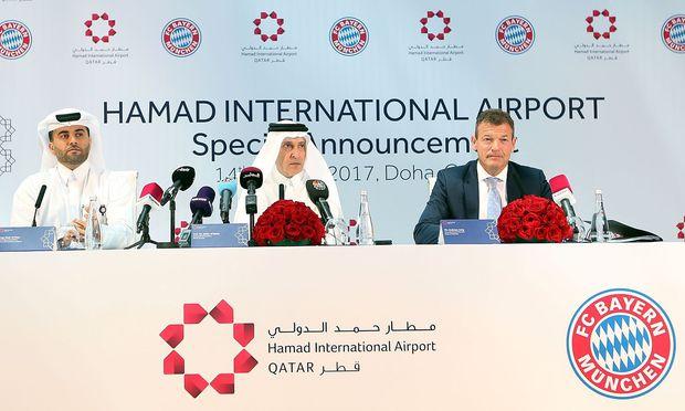 Flughafen in Katar ist jetzt auch Ärmel-Sponsor