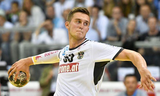 Nikola Bilyk in Aktion am Samstag, 17. Juni 2017, während des Handball EM-Qualifikations-Spiels Österreich gegen Bosnien-Herzegovina in Wien. / Bild: APA (HERBERT NEUBAUER)
